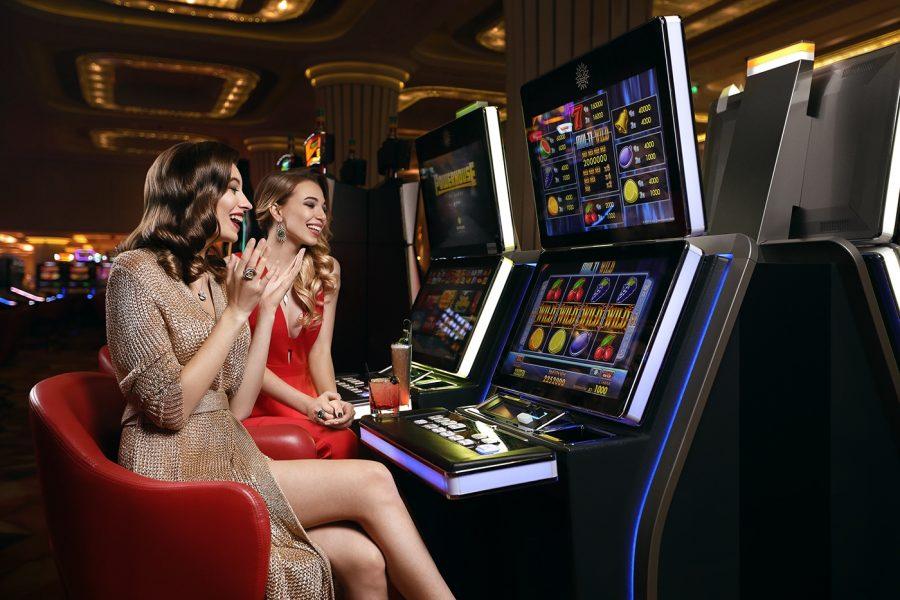 women playing slots