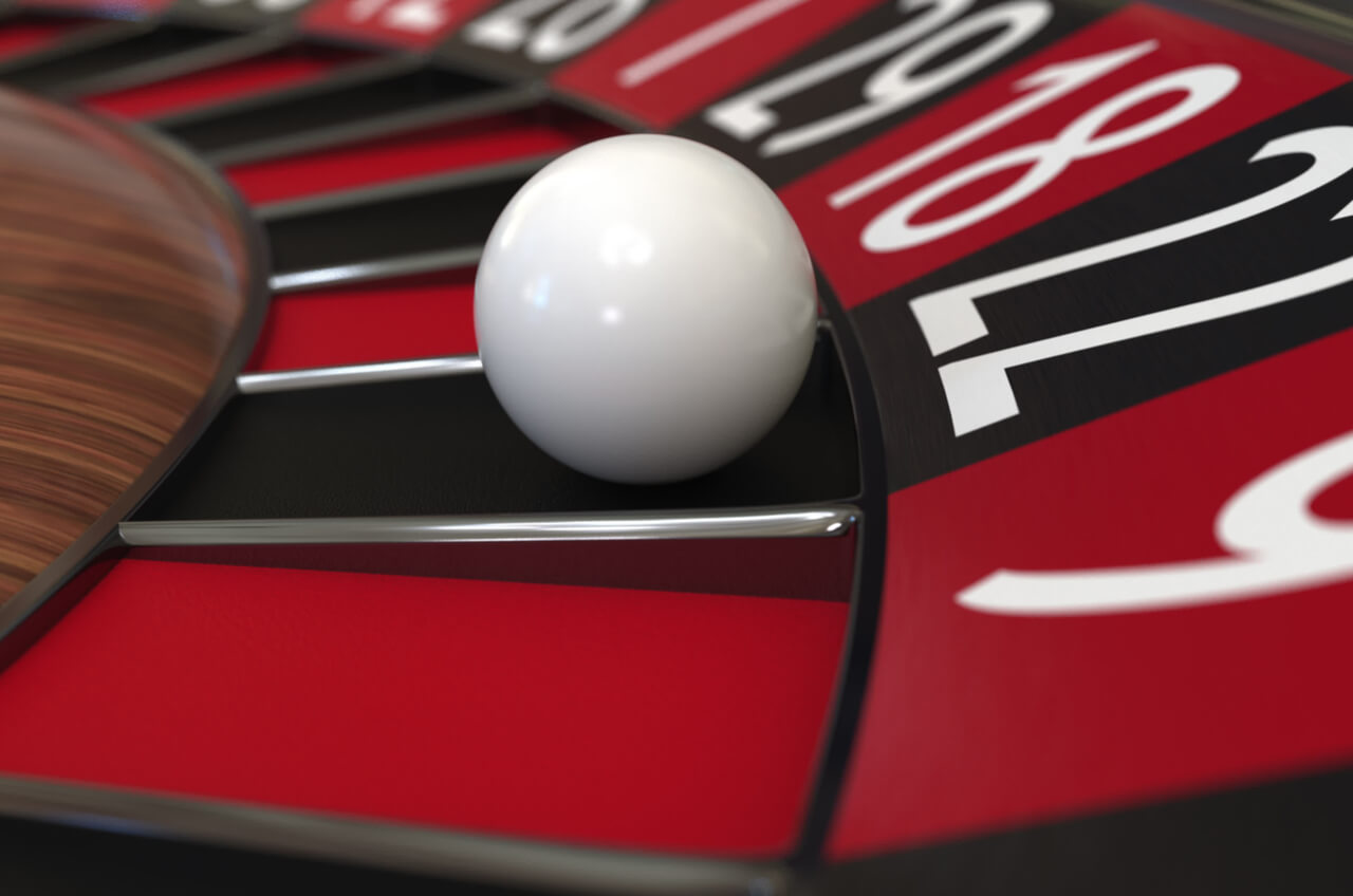 white ball on roulette